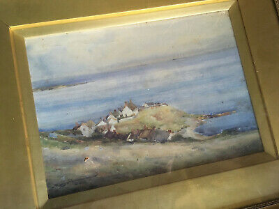 Antique Water Colour Painting Sign Charles Eyres Simmons 1872-1955 Devon Bay