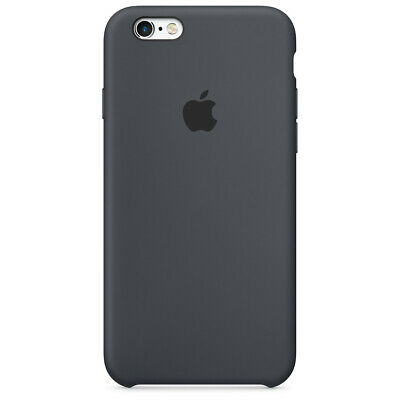 Apple Custodia Cover Per Iphone 6 E 6S Silicone Case Originale Charcoal Gray