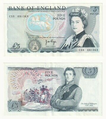 Bank of England £5 Banknote, Prefix C59 (from 1971) BYB ref: BE108 - EF.