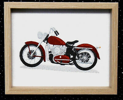 Motorcycle - Framed Embroidery