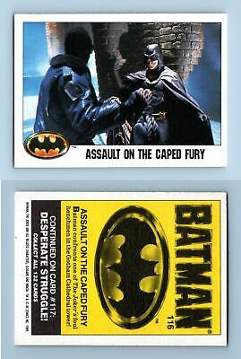 Assault On The Caped Fury #116 Batman 1989 Topps Trading Card