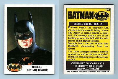 Bruised But Not Beaten #122 Batman 1989 Topps Trading Card