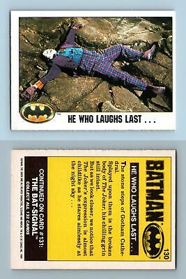 He Who Laughs Last #130 Batman 1989 Topps Trading Card