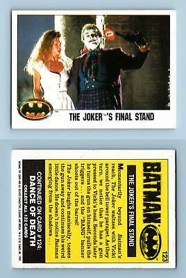 The Joker's Final Stand #123 Batman 1989 Topps Trading Card