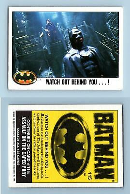 Watch Out Behind You #115 Batman 1989 Topps Trading Card
