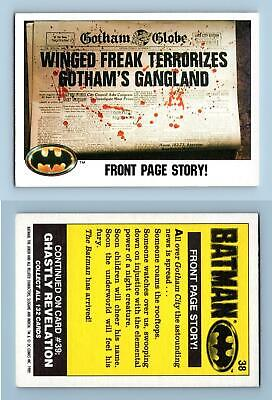 """Front Page Story #38 Batman 1989 Topps  """"Large"""" Trading Card"""
