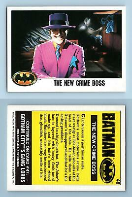 "The New Crime Boss #46 Batman 1989 Topps  ""Large"" Trading Card"