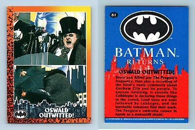 Oswald Outwitted #61 Batman Returns 1992 Topps Trading Card