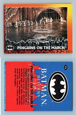 Penguins On The March #72 Batman Returns 1992 Topps Trading Card