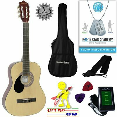 CLEARANCE - Graded B Left Hand Acoustic Guitar Package 3/4 Sized (36' inch) Clas