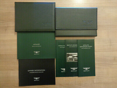 Bentley Arnage Blue Train Series USA Owners Handbook/Manual and Wallet