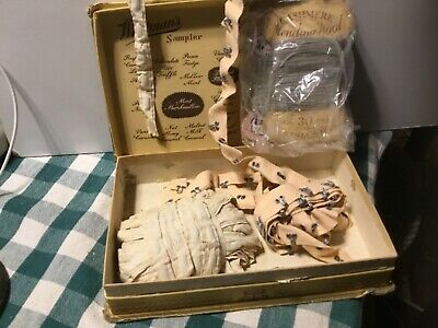 Assortment of Vintage Sewing supplies Cashmere mending Wool and weighted hem