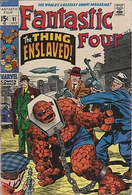 1st Series #90 1969 GD//VG 3.0 Stock Image Low Grade Fantastic Four