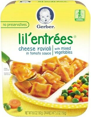 Gerber Lil' Entrees Cheese Ravioli in Tomato Sauce