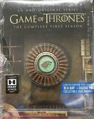 Game of Thrones: The Complete First Season 1 STEELBOOK Blu-ray Disc, Digital