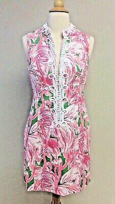 69775996068501 Lilly Pulitzer Alexa Shift Dress Prep Green & Pink Colony 92033 Women's ...