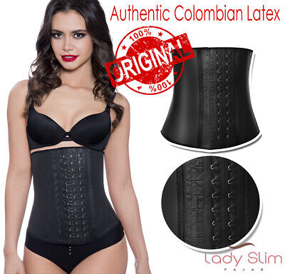 LadySlim Fajas Colombianas Latex Waist Trainer Weight Loss Cincher Slim Shaper