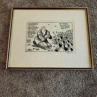 Pat Oliphant Signed Limited Edition President Bill Clinton Political Cartoon