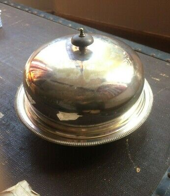 Antique Edwardian Harrods London Silver Plate Chill/Heat Serving Dish & Cover
