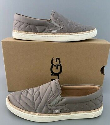d3d3ab84bd6 UGG AUSTRALIA SOLEDA Quilted Slip On Sneakers $110 Elephant Gray US6.5  #1095533