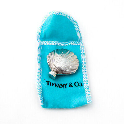 Authentic Tiffany & co Perfume Bottle Shell Form Sterling Silver