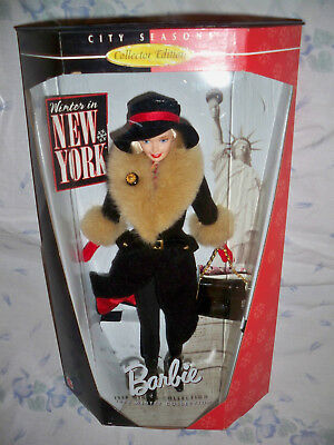 1998 Winter Collection City Seasons Barbie Doll in New York NRFB #19429 Mattel