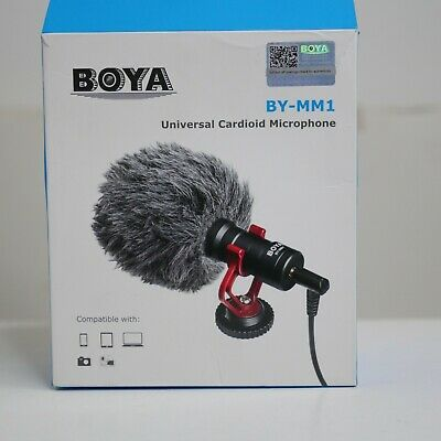 BOYA BY-MM1 Universal Cardioid Microphone Mic for DSLR Mirrorless Smartphone
