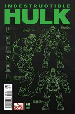 Indestructible Hulk (Vol 1) #1 Presque Neuf (NM) 1 en 25 Variante Marvel Comics