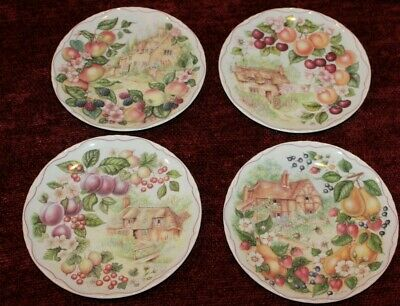 4 Royal Albert Harvest Festival Collector Plate Lot Luncheon Plates