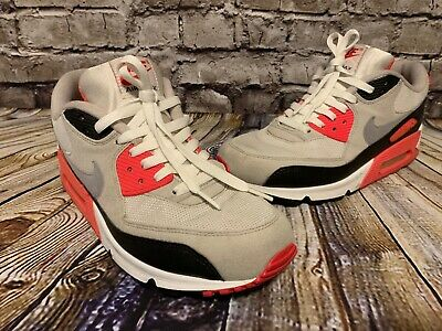 NIKE AIR MAX 90 Infrared 2010 White Cement Gray Black SIZE