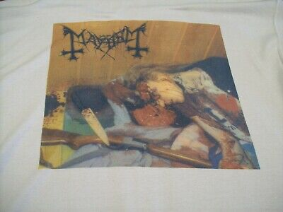 "MAYHEM ""DAWN OF THE BLACK HEARTS"" T-SHIRT XL 1990's BLACK METAL ETC"