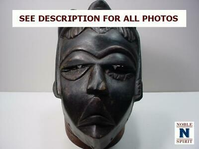 NobleSpirit  NO RESERVE (3970) Wood Carved African Tribal Mask - Cameroon
