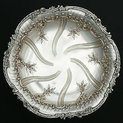 Antique French Sterling Silver Compote Tazza Footed Centerpiece Tray Plate