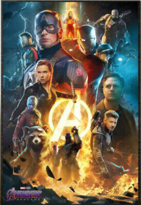 Marvel AVENGERS ENDGAME 24 x 36 Limited Edition Bosslogic Exclusive Movie Poster