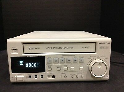 New Mitsubishi Hsmd-3000U Pro Video Recorder Svhs And Vhs Vcr & 60 Day Warranty