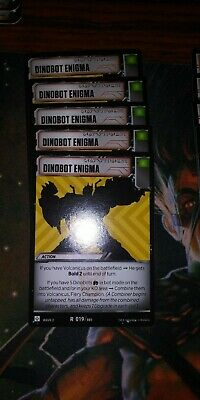Transformers TCG Card Rise of the Combiners Battle Rare Dinobot Enigma