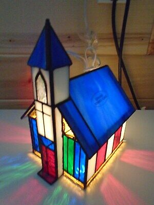 Stained Glass Church Lamp
