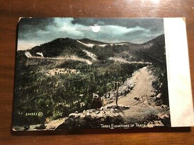 Cripple Creek Rail Way / Train, Colorado Springs, Picture Post Card,1919 ECV=$9