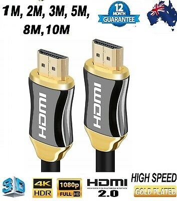 Premium fast Gold Plated HDMI Cable V2.0 3D4K Ultra HD Audio Return Channel AUS