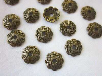 20 Antique Bronze Coloured 12mm Bead Caps #bc2544 Jewellery Making Findings