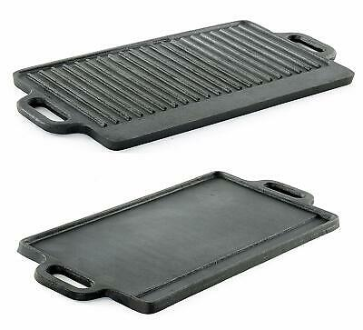 ProSource Professional Heavy Duty Reversible Double Burner Cast Iron Grill Gridd