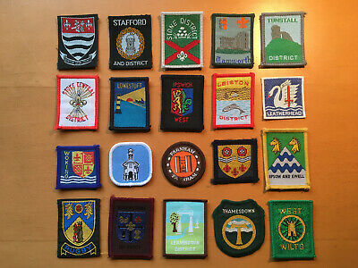 SCOUT BADGES – Collection of 20 English Scout District Badges
