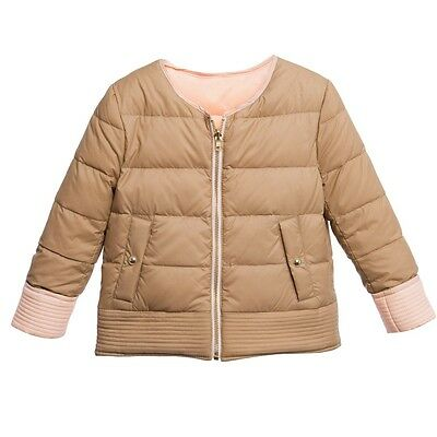 Chloe Baby Girls Beige Pink Reversible Jacket 3 Years