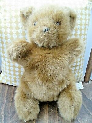 """Vintage 14"""" Teddy Bear Plush Hand Puppets Uk Limited By Bedford Bears 1985"""