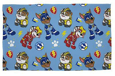 Paw Patrol Mighty Pups Flannel Fleece Blanket Bed Throw Chase Marshall Rubble