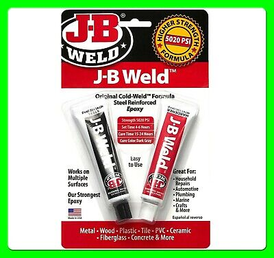 JB Weld Original Cold Weld [JB8265] New High Strength Formula 5020 PSi