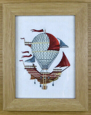 Airship - Framed Embroidery