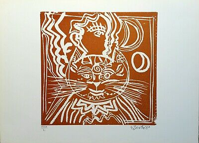 Gianpaolo Berto - Woodblock Original Numbered and Signed the 1980