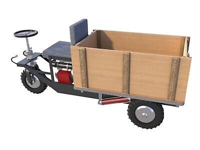 Mini Dump Truck Plans DIY Homemade Garden Tractor Small Hydraulic Dump Trailer