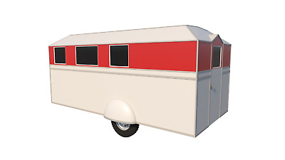 17' POP UP Camper Plans DIY Camping Trailer RV Pop-Up Caravan Project Travel